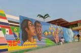 Crean nuevo mural en Facultad de Idiomas en Puerto Escondido