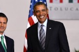 18/Feb/14 En Vivo: Arribo del presidente Barack Obama a Toluca, México