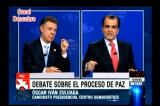 Video: Debate presidencial Colombia: Santos-Zuluaga, por Caracol