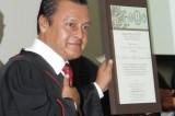 Recibe magistrado Gerardo Adelfo Carmona Mérito Judicial 2014
