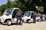 Auto patrullas eléctricas en el Centro Histórico