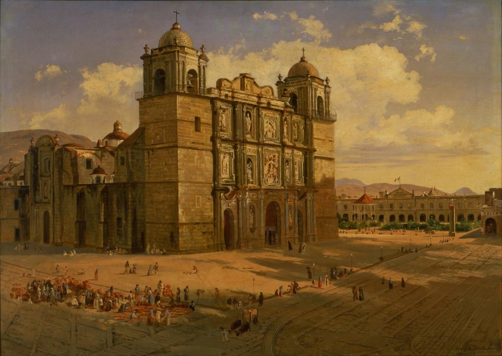 Catedral de Oaxaca por José María Velasco - commons.wikimedia.org