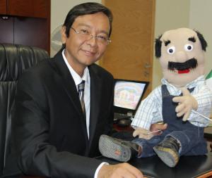 Don Justo, uno de los personajes principales de la página web infantil del Poder Judicial