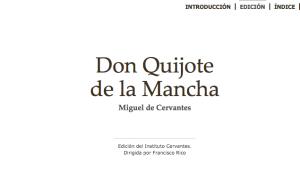 Portada Don Quijote de la mancha Inst Cervantes