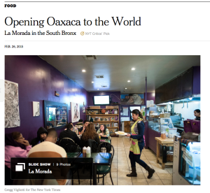 The New York Times reference Oaxaca gastronomy