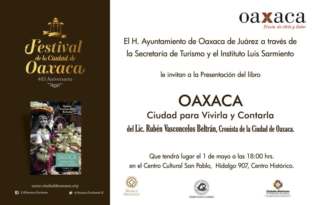Invitacion Libro Oaxaca para vivirla y contarla Ruben Vasconcelos (3)