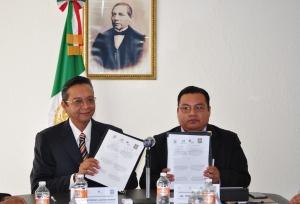 Los titulares del PJO y Cepiadet firmaron convenio de colaboración para difundir y externder la multiculturalidad en los procesos judiciales
