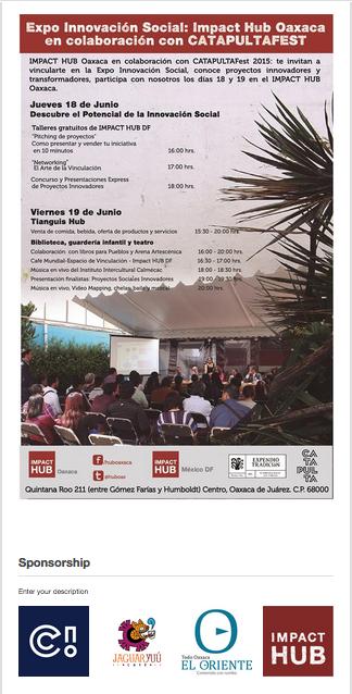 Expo innovación HUB OAXACA 17jun15