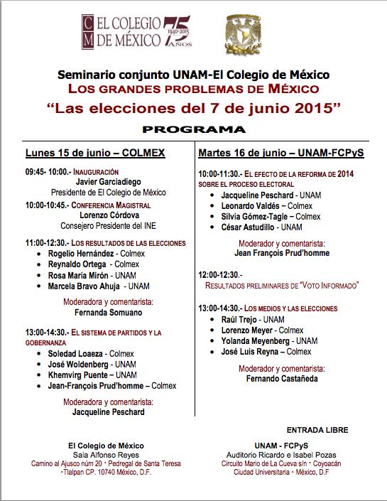 Programa seminario colmex unam 15jun15