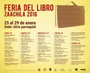 Feria del lIBRO zAACHILA 2016