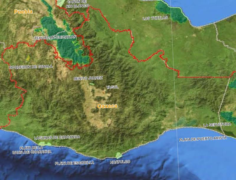 Mapa de áreas naturales protegidas por @CONANP