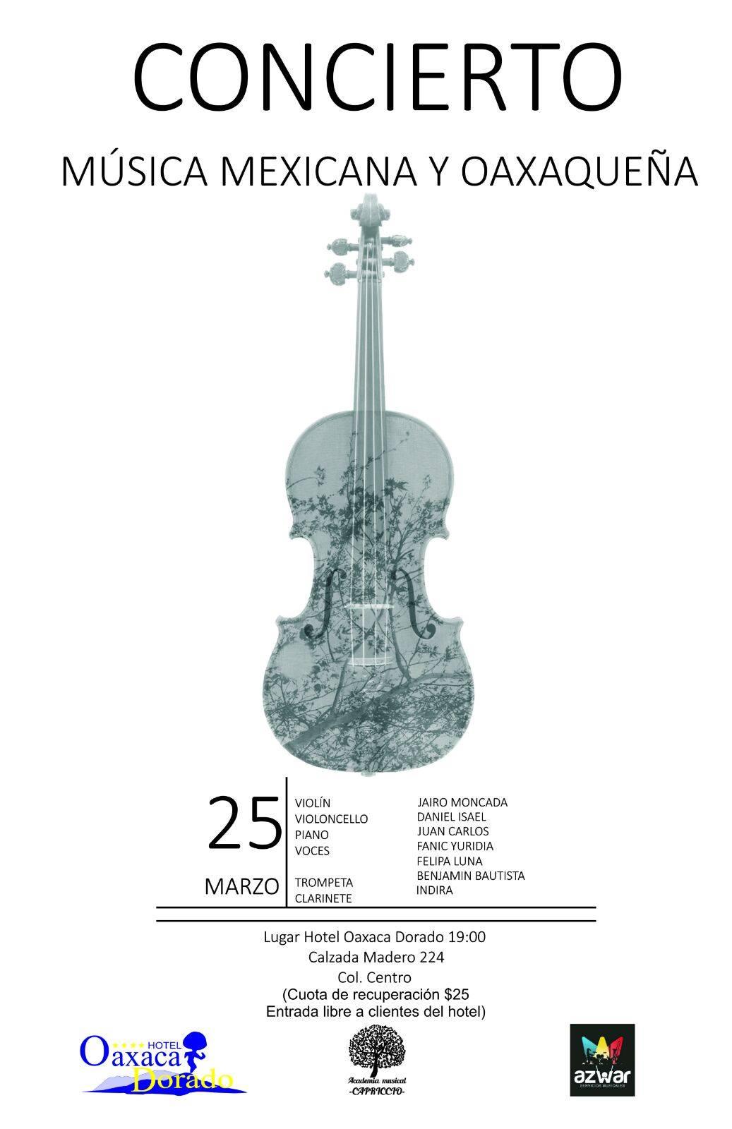concierto música mexicana y oaxaqueña