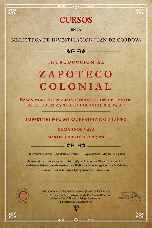 ZAPOTECO COLONIAL