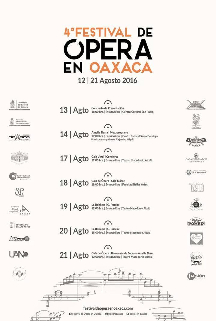 4o FESTIVAL DE OPERA en OAXACA