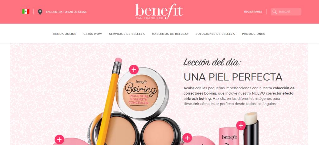 Página Oficial Benefit