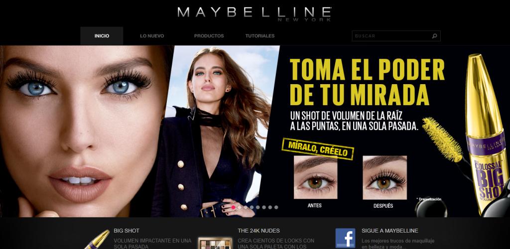 Página Oficial Maybelline