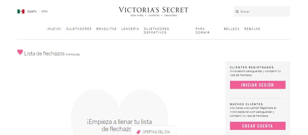 Página Oficial de Victoria´s Secret