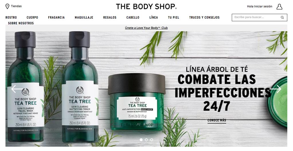 Página The Body Shop