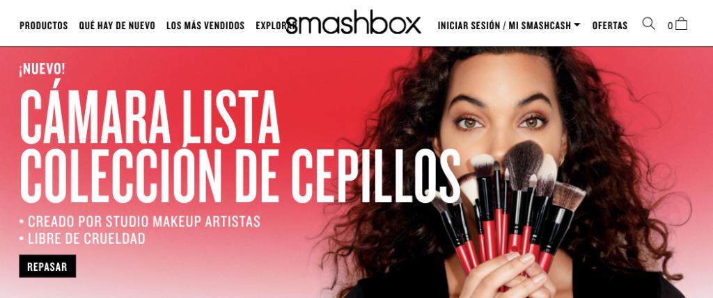 Página de SMASHBOX