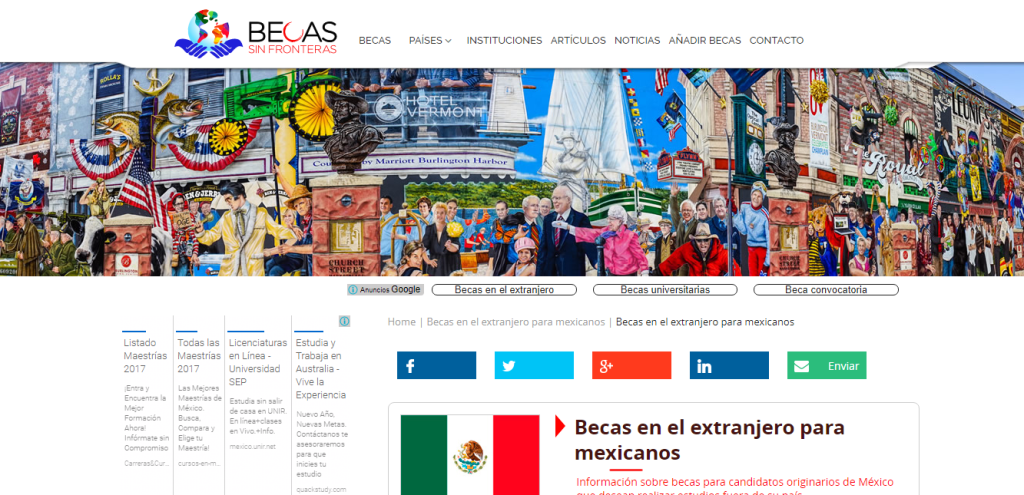 Página Oficial de Becas Sin Fronteras