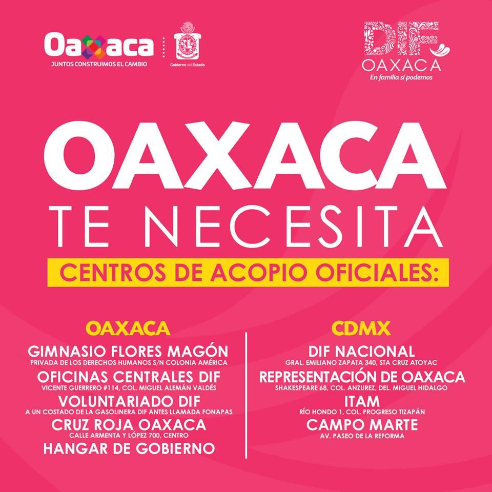 Centros de Acopio en Oaxaca