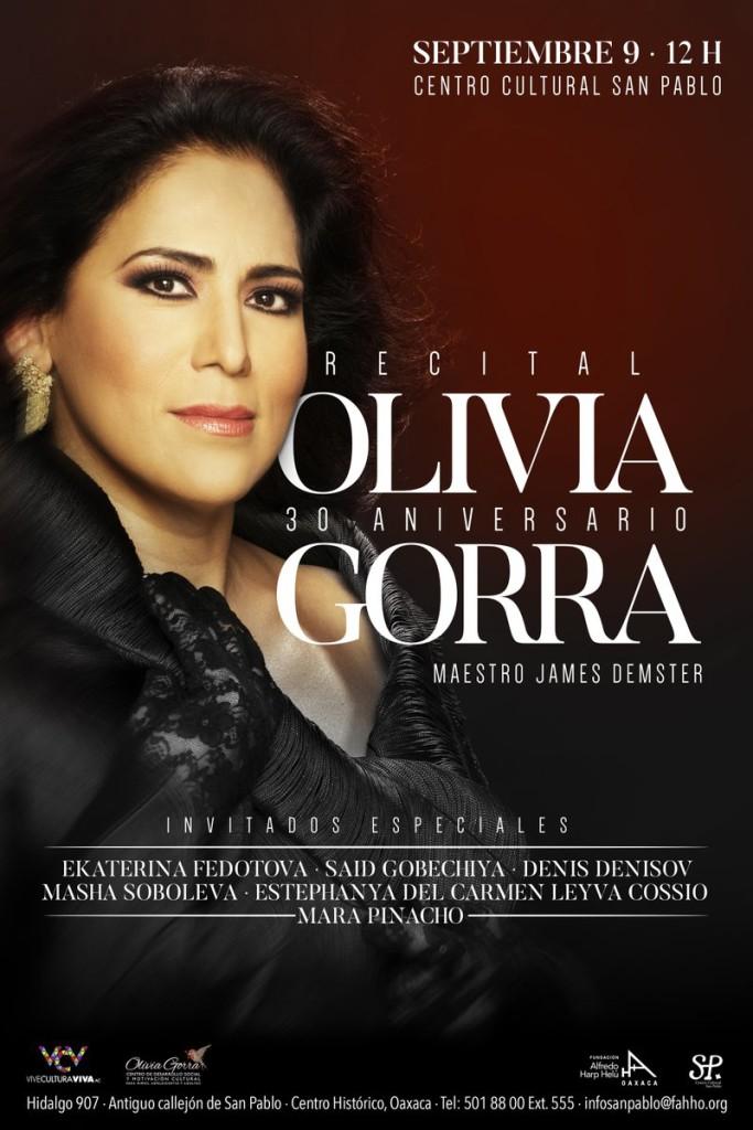Olivia Gorra fundación harp septiembre 2017