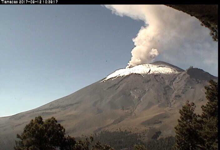 Imagen: Volcan Popocatépetl, vía Luis Felipe Puente.