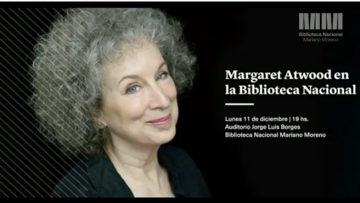 Margaret Atwood en vivo Biblioteca Nacional