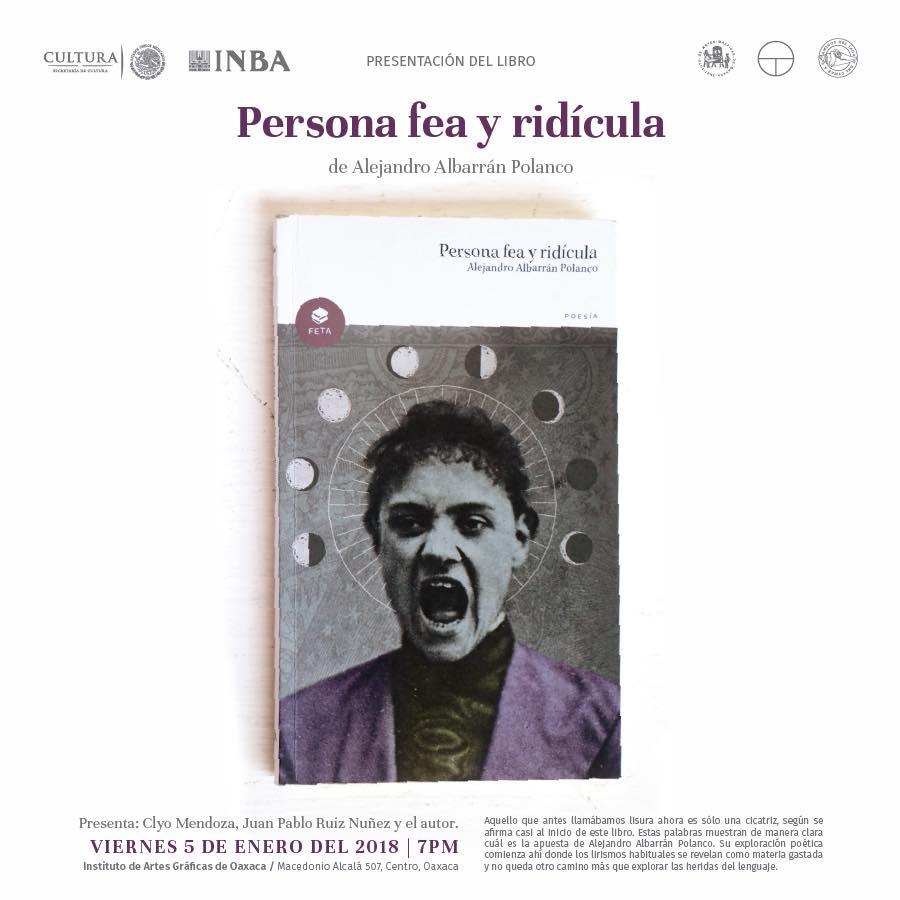 """Presentación de Libro """"Persona fea y ridícula"""" IAGO"""