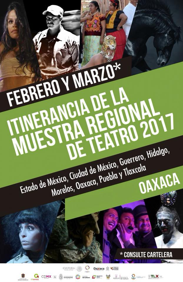 Itinerancia de la Muestra Regional de Teatro en Oaxaca 2018