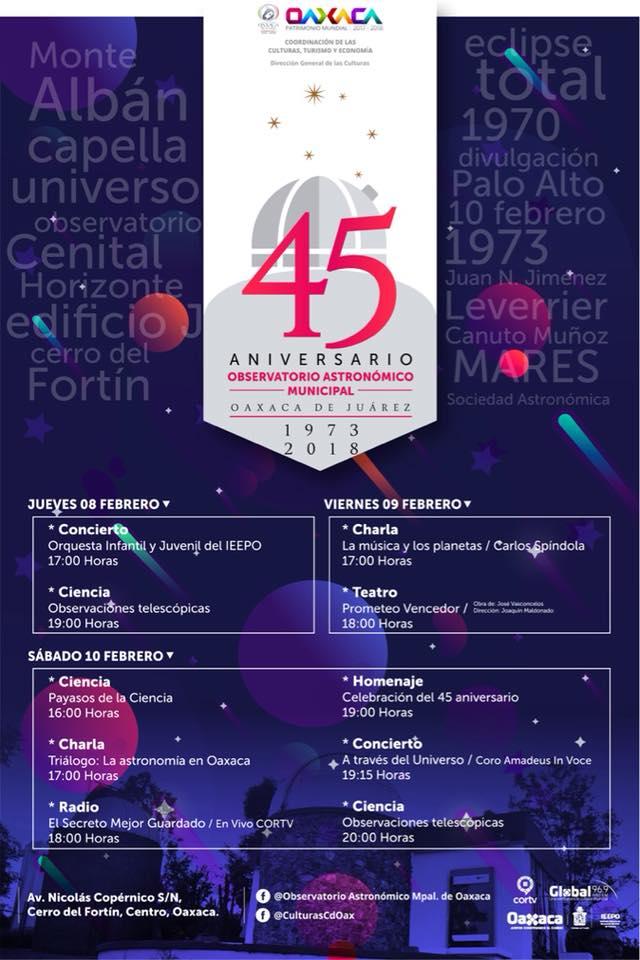 45 aniversario del planetario